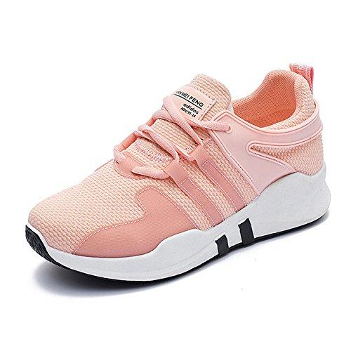 NGRDX&G Zapatos De Mujer Zapatos Cómodos De Encaje De Malla Transpirable Zapatos Deportivos Zapatos De Mujer Pink
