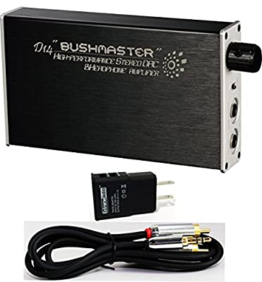 iBasso D14 Bushmaster Portable Headphone Amplifier/DAC with Optical & 3.5mm Stereo to RCA Connection Kit by iBasso