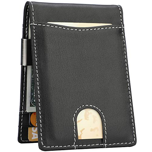 Lavemi Money Clip Wallet for Men Slim Front Pocket RFID Blocking Card Holder Minimalist Bifold ()