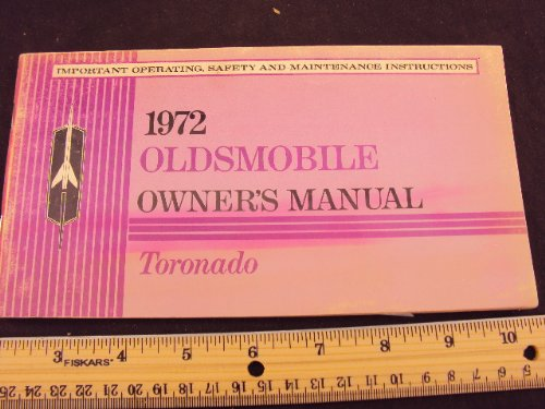 1972 72 OLDSMOBILE Toronado Owners Manual ~Original