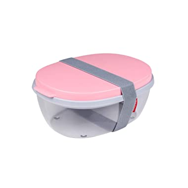 Rosti Mepal Ellipse Duo Reusable Meal Prep Salad Box, Nordic Pink, 2 Einheiten