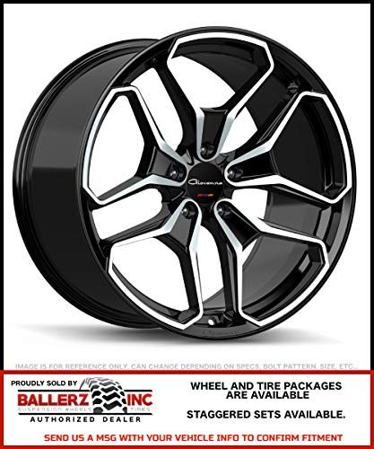 Giovanna Wheels Huraneo 20x8.5 5x120 25 Offset 72.56 Hub Machined Black Finish - 2085B25GOHURMB for Sale by Ballerz Inc Authorized Dealer