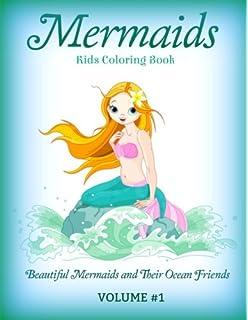 mermaids kids coloring book beautiful mermaids and their ocean friends lovely mermaid coloring