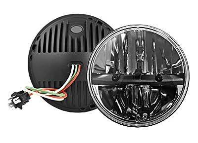 "(2Pcs) Pair 7"" Round LED Headlights Headlamps Hummer for Wrangler CJ TJ JK 27270C"
