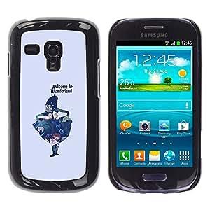 iKiki Tech / Estuche rígido - Fairytale Minimalist Text Kids Child - Samsung Galaxy S3 MINI NOT REGULAR! I8190 I8190N