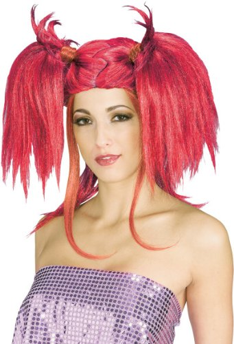 Rubie's Costume Lipstick Diva Wig, Deep Red, One (Red Lipstick Halloween Costumes)