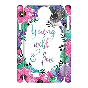 Young Wild and Free 3D-Printed ZLB525050 DIY 3D Cover Case for SamSung Galaxy S4 I9500