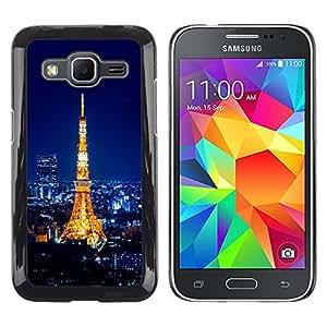 LECELL--Funda protectora / Cubierta / Piel For Samsung Galaxy Core Prime -- TORRE EIFFEL PARI TOUR EIFFEL --