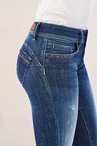 Di Borchie Jeans Con Dettaglio Wonder Salsa Azzuro Slim wT8A1nq