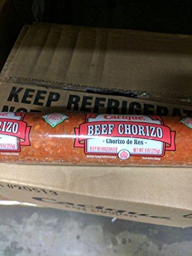 Cacique Beef Chorizo Sausage 9 Oz (8 Pack)