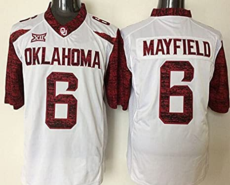wholesale dealer 29996 4a89f Men's Oklahoma Sooners NO.6 Mayfield White Football Jerseys ...