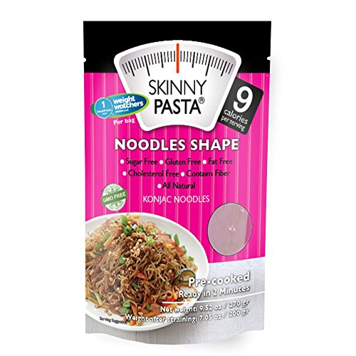 Skinny Pasta Noodles Shape 9.52 oz (6 Pack) - The Only Odor Free 100% Konjac Noodle - Pasta Weight loss - Low Calorie Food - Healthy Diet Pasta
