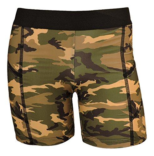 MadSportsStuff Pro Line Softball Sliding Shorts (Green Camo, Large) (Shorts Softball Sliding)