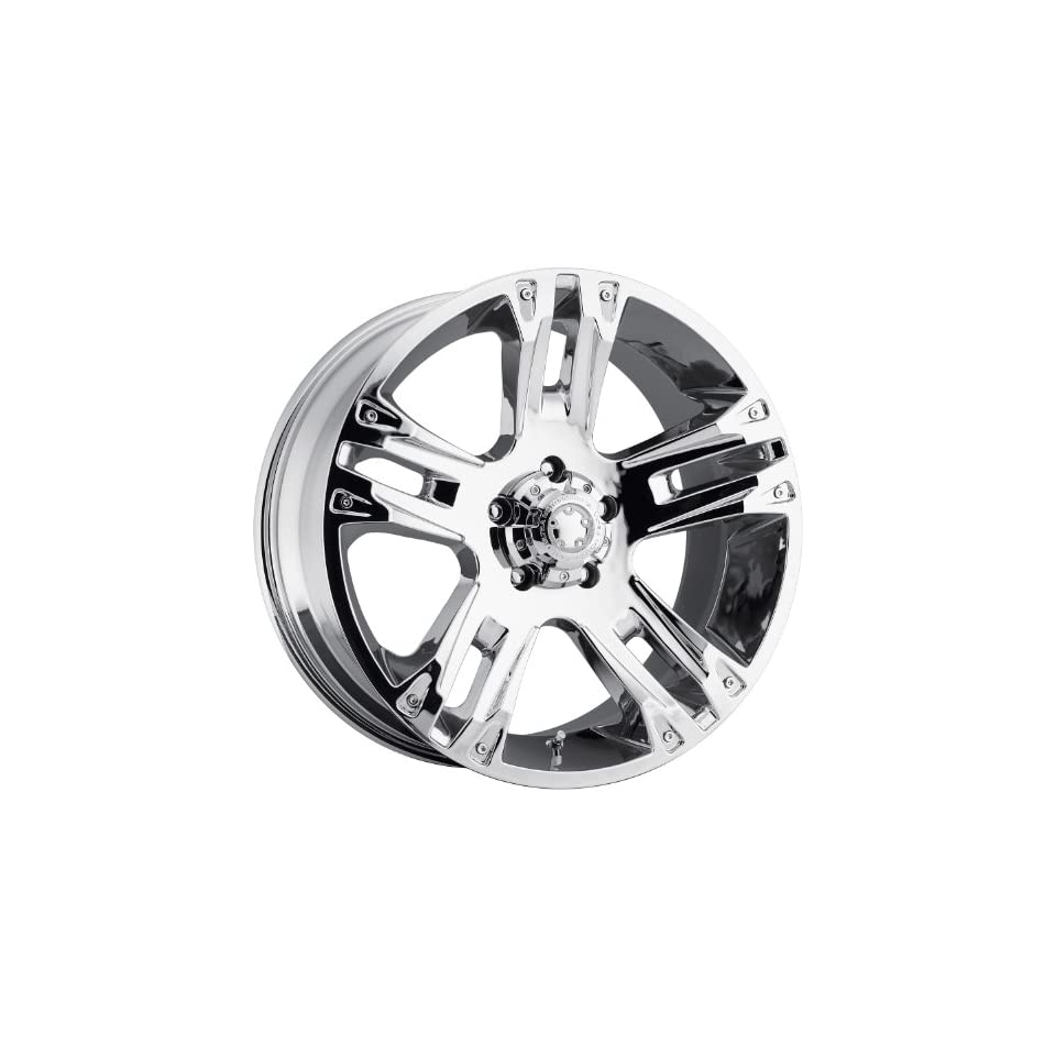 Ultra Maverick 16 Chrome Wheel / Rim 5x5.5 with a 10mm Offset and a 107 Hub Bore. Partnumber 235 6885C