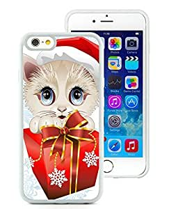 Popular Sell Design iPhone 6 Case,Christmas Cat White iPhone 6 4.7 Inch TPU Case 22