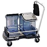 Rubbermaid ProServe Black Plastic Ice Tote Cart - 21 1/2''L x 6''D x 39''H