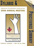 Annual meeting Syllabus 2006, American Psychiatric Association Staff, 0890424810