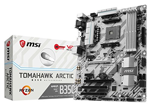 MSI Gaming AMD Ryzen B350 DDR4 VR Ready HDMI USB 3 ATX Motherboard (B350 TOMAHAWK ARCTIC) (Msi Desktop Gaming Pc)