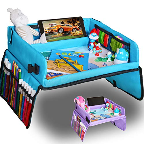 Kids Travel Tray Car Seat Tray for Toddler  Free Bag amp EBook  Keeps Children Entertained