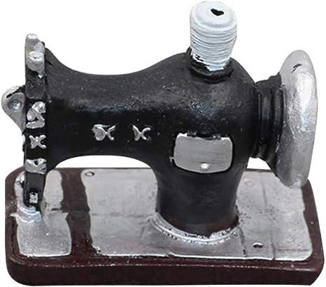 Vosarea - Adorno de máquina de Coser Vintage de Mesa Artesanal ...