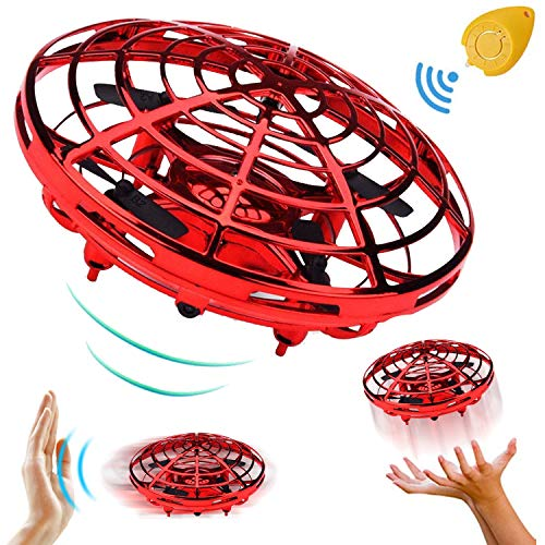 Mini Drone RC Flying Toy for Kids, Flying Ball Hand Controlled Quadcopter Light Up Flying Toys, Two Speed Auto-Avoid Obstacles 360°Rotating Helicopter Outdoor Toys Fall Halloween Birthday Gifts