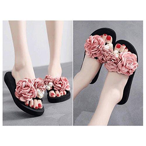 Donna Pantofole Indossa dimensioni Sandali 0 Suola 5 Estive Spessa Con Uk Spiaggia Per 88rqzBdw