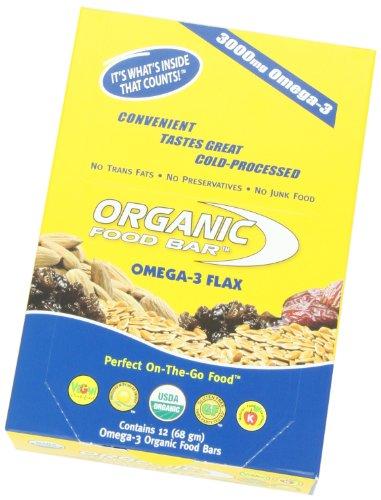 Amazoncom Organic Food Bar Omega 3 Flax 68 Gram Bars Pack Of