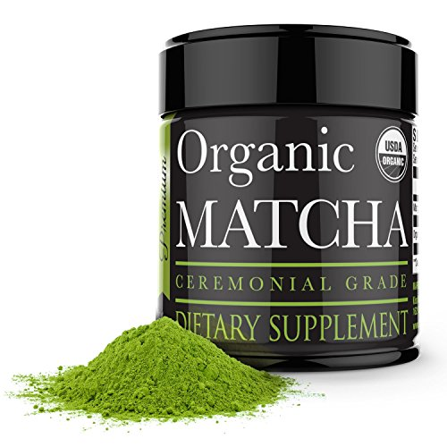 Ceremonial Matcha Green Tea Powder - 1oz - Highest Quality Japanese Matcha - Perfect for Tea Ceremonies - Made from 100% Organic Tea Leaves - Detox Tea by Kiss Me Organics
