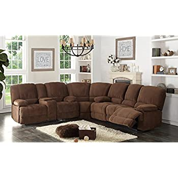 Christies Home Living 3 Piece Kevin Contemporary Fabric Sofa And Loveseat  Reclining Living Room Sectional
