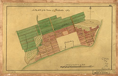 Map: 1767 A Plan of the town of Pensacola, 1767|Florida|Pensacola|Pensacola - Florida Pensacola Shopping