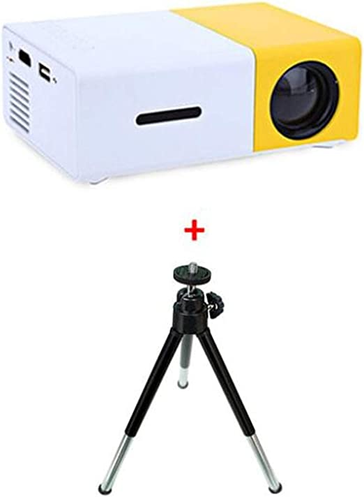 BABIFIS YG300 Mini Proyector 600 Lumen 3.5mm Audio 320x240 Píxeles ...