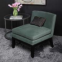 Studio Designs Home 70168 Cornice Slipper Upholstered, Teal Green