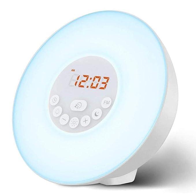 HEY Reloj Despertador multifunción Luz, Reloj de Alarma de ...