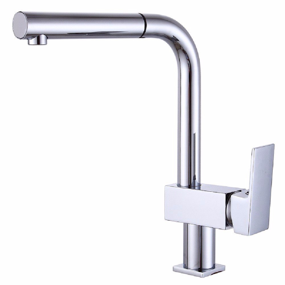 WAWZJ Kitchen Faucet Pull Out Type Kitchen Faucet All Copper Wash Dish Basin Universal Swivel Faucet