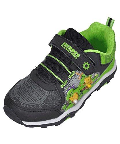 Ninja Turtles Sneaker (Toddler/Little Kid), Black/Green/Green, 10 M US Toddler