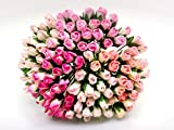 100 pcs. Tone Two Pink Color Rose Buds Mulberry