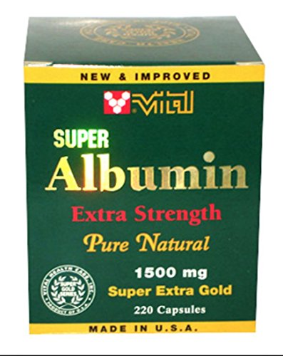 Cheap Vital Super Albumin Extra Strength Pure Natural 1,500mg 200 capsules Super Extra Gold