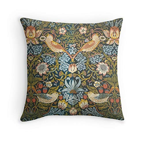 William Morris Pattern Birds and Flowers for Sofa Couch Living Room Bed Decorative