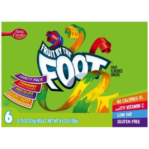 Fruit by the Foot, Variety Pack (Pack of 6)