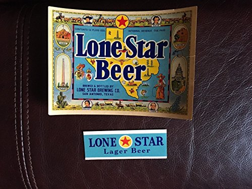 - Lone Star Beer Bottle Label and Texas 1940's