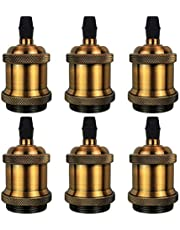 DiCUNO E26 / E27 Vintage Solid Portalampada Ceramica Portalampada Edison Vite Lampadina Socket Adapter