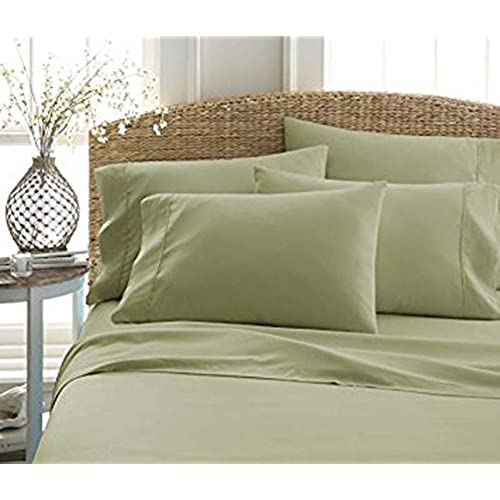 Twin Sheets And Pillowcases Solid Bedding Sets 1900 Premium Double Brushed  Really Soft Microfiber Sheet Set (sage,King, 4 Piece Set ) Luxurious Best  ...