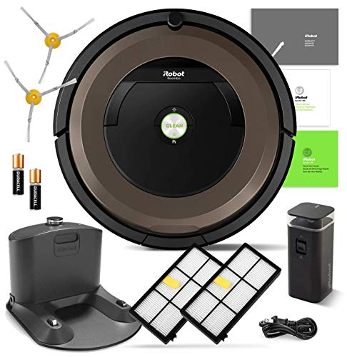 iRobot Roomba 890 Robotic Vacuum Cleaner Wi-Fi Connectivity + Manufacturer's Warranty + Extra Sidebrush Extra Filter Bundle