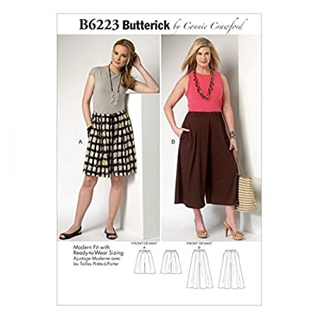 Butterick Ladies Plus Size Sewing Pattern 6223 Culottes: Connie ...