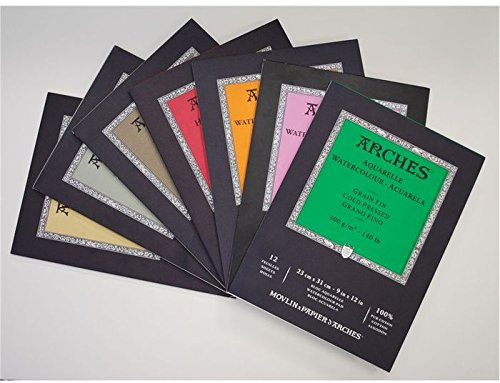 Arches Water Colour Block, 300 lb / 640GSM, Cold Pressed, 9'' x 12'' by Arches (Image #2)