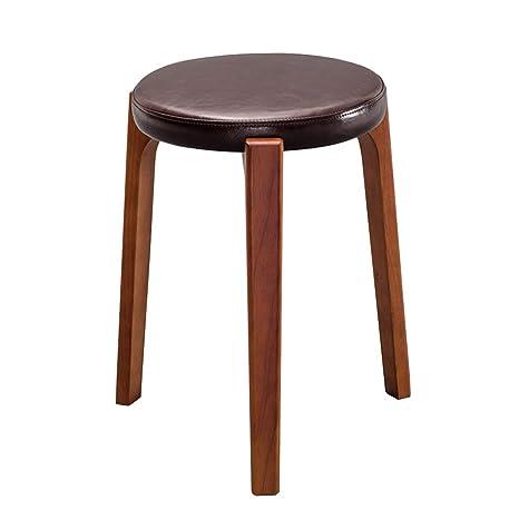 Amazon.com: ZHAOYONGLI Taburete de mesa redondo de madera ...