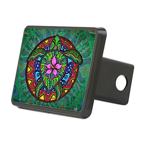 CafePress - Sea Turtle Painting by Jul - Trailer Hitch Cover, Truck Receiver Hitch Plug Insert ()