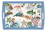 Michel Design Works Sea Life Wooden Decoupage Tray, 20'' x 13.75''