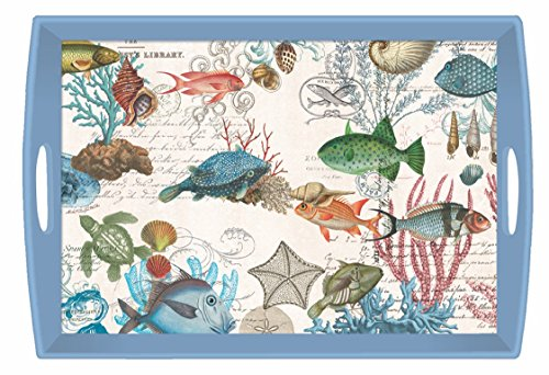 Michel Design Works Sea Life Wooden Decoupage Tray, 20'' x 13.75'' by Michel Design Works