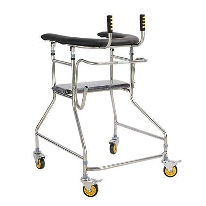 Amazon.com: Patinete plegable de cuatro ruedas con asiento y ...